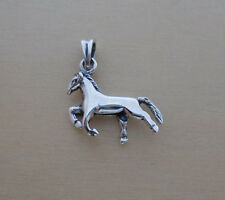 925 Sterling Silver Polished HORSE Pendant, Charm