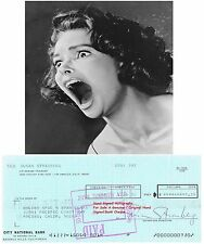 SUSAN STRASBERG  AMERICAN FILM STAR ACTRESS SIGNED BANK CHEQUE / CHECK 1972 RARE