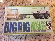 Vintage IMC Big Rig Dodge L-700 Cab & Trailer Model Kit 1/25 Parts Junkyard