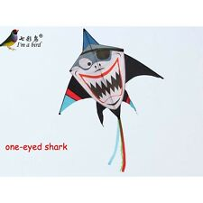 NEW 1.6m 63-In Pirate Shark Kite one-eyed single line Delta kites surfing