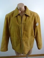 ABERDEEN MENS BROWN SUEDE 100% LEATHER INSULATED LINED JACKET SIZE M