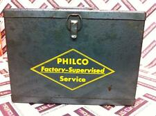 VINTAGE old steel PHILCO VACUUM TUBES CARRIER WITH TUBES INSIDE TUBE