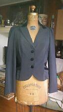 Vintage Betsey Johnson Black W Velvet Collar Fitted Tuxedo Coat Size Large