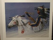 ENOCH KELLY HANEY LIMITED EDITION SIGNED AND NUMBERED PRINT/ SEMINOLE/ CREEK