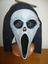 Plastica urlare Film Ghost Maschera Cappuccio Brillano al Buio Halloween Fancy Dress
