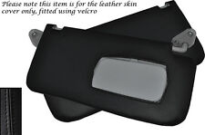 BLACK STITCH FITS SUBARU FORESTER 1997-2002 2X SUN VISORS LEATHER COVERS