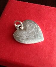 James Avery Sterling Silver Large Etched Heart Charm Pendant