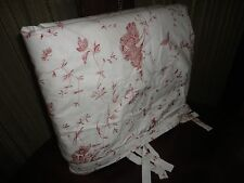 IKEA ALVINE BUKETT CRANBERRY RED WHITE TIE-TOP (1) TWIN DUVET FLORAL 60 X 82