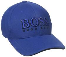 NEW HUGO BOSS MEN'S PREMIUM SPORT LOGO PIQUE ADJUSTABLE HAT CAP COBALT 50251244