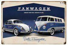 Classic Fanwagon Beetle VW Automobile Sign