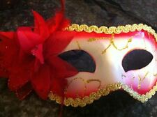 MASQUERADE FLOWER & FEATHER PARTY MASK -  FANCY DRESS  50 SHADES OF GREY 10 COLS