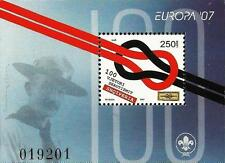 Albania 2007. Europa CEPT 100 YEARS OF SCOUTING, Scout Centenary. Block MNH
