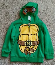NWT BOYS NICKELODEON TEENAGE MUTANT NINJA TURTLES ZIP-UP MASK HOODIE SZ 4T