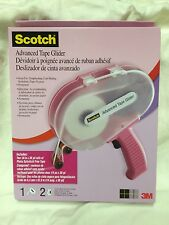 "Scotch 3M ATG Pink Adhesive Applicator 1/4"" Tape Glider Gun w/ 2 rolls tape 714"