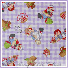 BonEful Fabric FQ Flannel Baby Girl Raggedy Ann & Andy Doll Picnic Gingham Retro