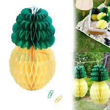 Novelty Pineapple Shape Honeycomb Paper Ball Hanging Decor For Home Garden Party