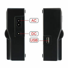 LCD Dual 2-Battery Charger For Sony NP-F970 F960 F950 F770 F750 F550 Charging #