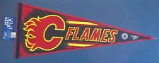 "CALGARY FLAMES PENNANT 12"" x 30"" NEW NHL WINCRAFT FREE US SHIPPING"