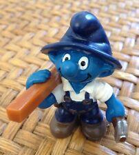 Schleich 2000 Peyo Vintage Smurfs Carpenter Craftsman Chippie Smurf 20471 Rare!
