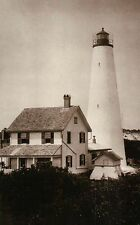 Georgetown Lighthouse South Carolina SC between Winyah Bay & Atlantic - Postcard