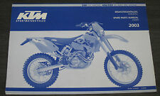 Ersatzteilkatalog KTM 250 EXC 450 / 525 Fahrgestell Chassis Spare Parts Manual