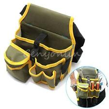 Hardware Mechanic's Electrician Canvas Tool Bag Utility Pocket Pouch Bag W/Belt