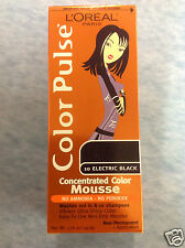 L'Oreal Color Pulse Concentrated Color Mousse ( ELECTRIC BLACK #10) NEW.