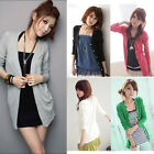 Women's Casual Soft Long Sleeve Knitwear Cardigan Shirt Coat Jacket Long Sweater