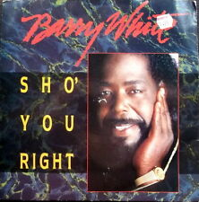 "BARRY WHITE-SHO' YOU RIGHT /YOU'RE WHAT'S ON MY MIND-UK A&M 7"" PS 1987-EX"