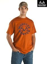 Realtree Outfitters Monster Hunter Short-Sleeved Orange T-Shirt - SIZE LARGE