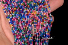 2MM PARTY MIXED JADE GEMSTONE RAINBOW PASTEL ROUND 2MM LOOSE BEADS 16""