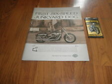 "HARLEY- DAVIDSON AD-""Six-Speed Junkyard Dog""- Plus cards-2005"