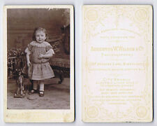 CDV Photograph Victorian Child with Toy Horse Carte de Visite by Wilson of Londo