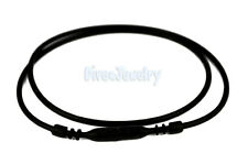 """16.5"""" Black Silicone Soft Rubber Necklace Cord with Snap Lock Waterproof"""