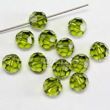 100 pieces Genuine Swarovski Element 5000 5mm Round Ball Beads Crystal OLIVINE