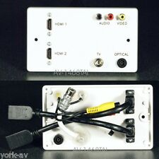 AV Wall Plate, TV / Optical Audio / 3 Phono Audio Video / 2 x HDMI sockets