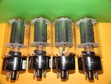 Matched Quad RCA 6L6 GC Black Plates Vacuum Tubes V Strong 5800 6215 5780 6080