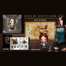 """Tomb Raider Lara Croft Gold Edition extras 3"""" Figura de juguete Mapa Libro De Arte-Sin juego"""