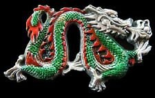 Chinese New Year China Fire Green Dragon Belt Buckle Boucle de Ceinture