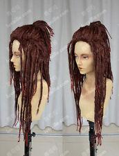 DRAMAtical Murder / Minkus afrikanisch Neger Dunkelrot Dreadlocks Perücken Wig