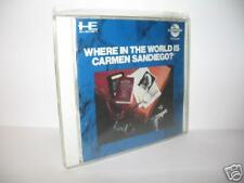 WHERE IN THE WORLD IS CARMEN SANDIEGO? - NEC PC ENGINE CD-ROM BE