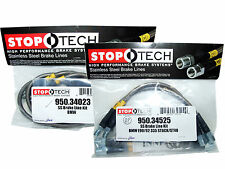 Stoptech Stainless Steel Braided Brake Lines (Front & Rear Set / 34023+34525)