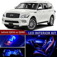 16pcs LED Blue Light Interior Package Kit for Infiniti QX56 or QX80