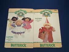 Vintage Butterick cabbage patch kids clothes patterns 999 and 331 clown, dresses