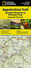National Geographic Appalachian Trail Map Guide GA NC TN Springer-Davenport 1501