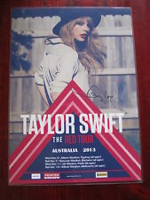 Taylor Swift - The RED 2013  Australian Tour -  SIGNED AUTOGRAPHED  Poster