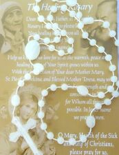 ROSARY glow in dark Catholic Rosary with PRAYER CARD healing NEW fast shipping