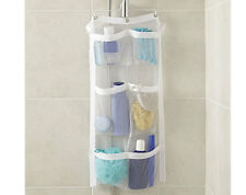 shower hanging organizer over bathroom storage mesh pockets shower Utility
