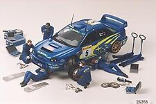 24266 TAMIYA meccanici rally & attrezzature Set 1 / 24th PLASTICA Kit Auto 1/24