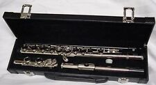 New Bridgecraft USA Nickel plated flute split E MSRP:$980.00 w/hard shell case